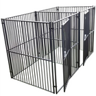 Lucky Dog European Style Modular 2-Run Kennel with Common Wall 5'x5'