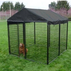 Lucky Dog Modular Box Kennel with Roof and Cover in Virginia