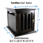 DenHaus Townhaus Elite Dog Crate in Espresso