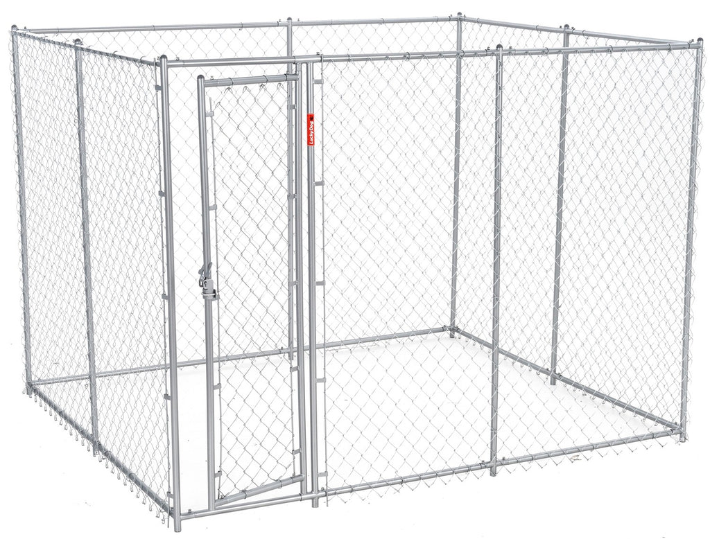 Lucky Dog Boxed Chain Link Kennel 5'x10'