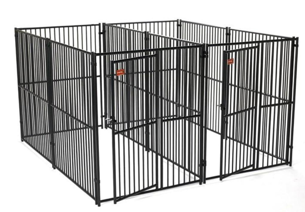 Lucky Dog European Style Modular 2-Run Kennel with Common Wall 5'x10'