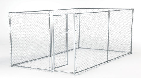 Lucky Dog Boxed Kennel Chain Link 5'x10'