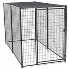 Lucky Dog™ 6'H x 5'W x 10'L  Black Modular Welded Wire Kennel with shade cloth roof