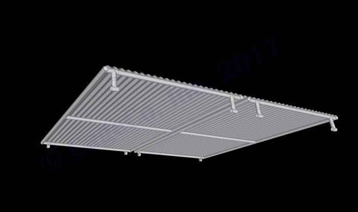 Rhino Dog Kennel Solid Roof Panel 10'x10'