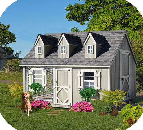 Little Cottage Cape Cod Dog Kennel