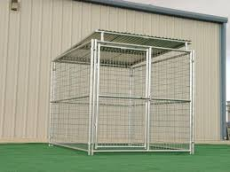 Rhino Dog Kennel with Solid Roof 6'x8'