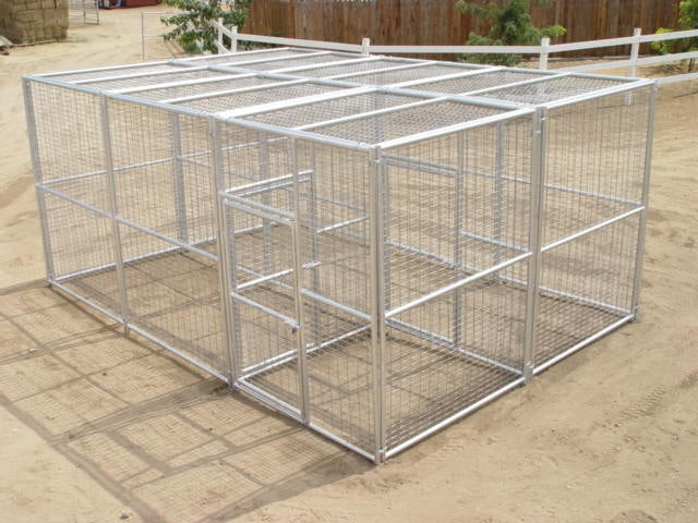 Rhino Exotic Animal Enclosure Double Gated Entry Dual Exotic Animal Cage