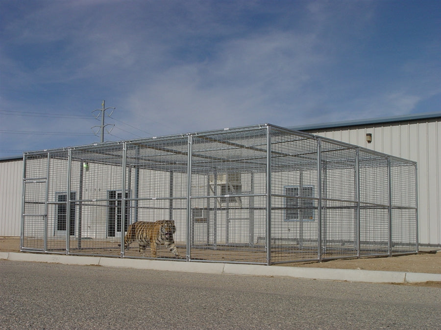 Exotic Animal Enclosure 24' x 24' x 8' Exotic Animal Cage