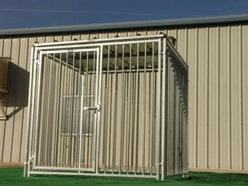 Rhino Dog Kennel in European Style with Solid Roof 6'x6' Arkansas