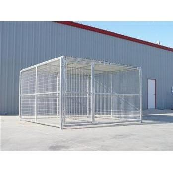 Rhino Dog Kennel 10'x10' with Roof Shelter in Oklahoma