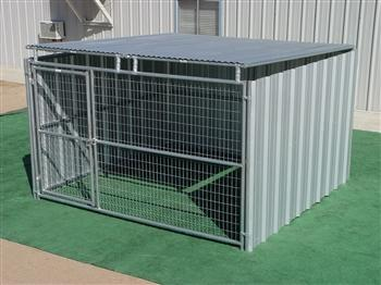 Rhino Shed Row Style Dog Kennel with Roof Shelter 10'x10' in Georgia