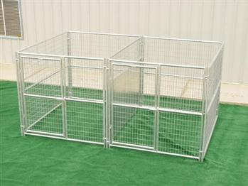 Rhino 2-Run Dog Kennel with Fight Guard Divider 6'x8'
