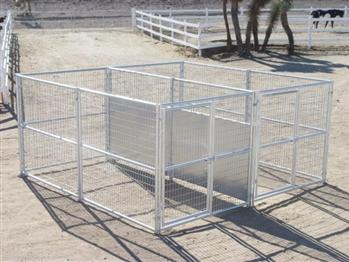 Rhino 2-Run Dog Kennel with Fight Guard Divider 6'x12'