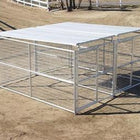 Rhino 2-Run Dog Kennel with Roof Shelters 6'x12'