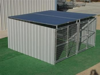 Rhino 2-Run Shed Row Style Dog Kennel with Roof Shelters 5'x10'