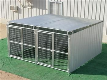 Rhino 2-Run Shed Row Style Dog Kennel with Roof Shelters 6'x12' in Oregon