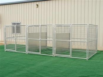Rhino 3-Run Dog Kennel with Fight Guard Dividers 6'x8'