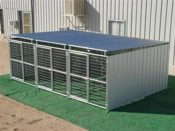 Rhino 3-Run Dog Kennel in Shed Row Style with Roof Shelters 6'x12' Business