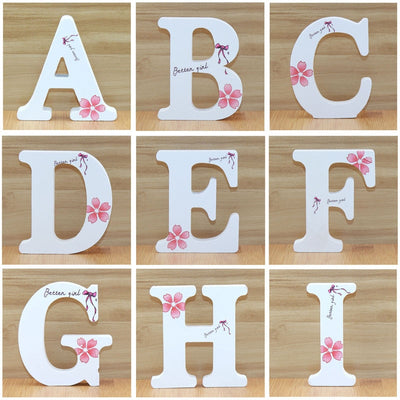 Wooden Letters 1pc 10cm  Decorative - Alonso's Marketplace