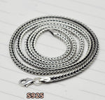 100% real 925 sterling silver chain necklace .