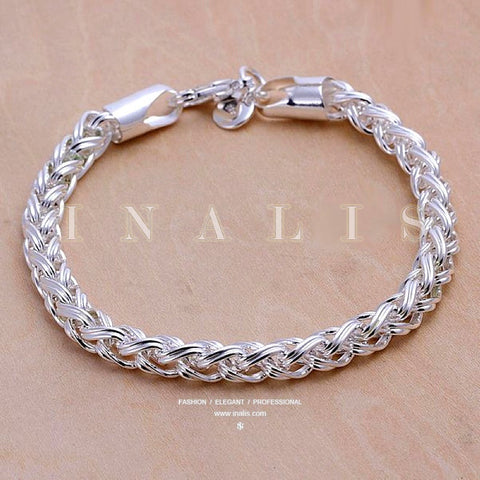 Bracelets 925 Sterling Silver Classical Twist Chain Popular Hot Gift Fashion