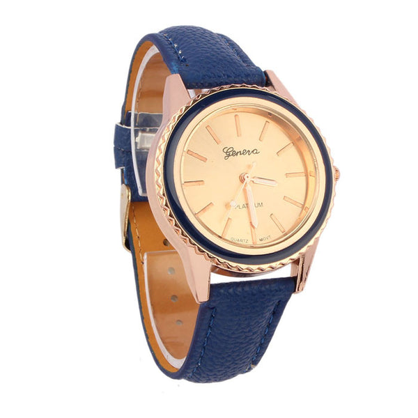 Vogue Women's Men's Unisex Faux Leather Analog Quartz Wrist Watch