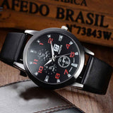 Men'ssiness Watch Leisure Time Diamond Faux Leather Analog  Wrist Watches