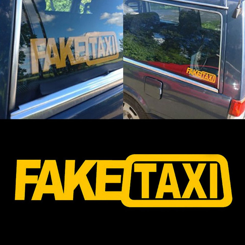 New Arrival Universal Car Sticker Fake Taxi Race Auto Funny Decal