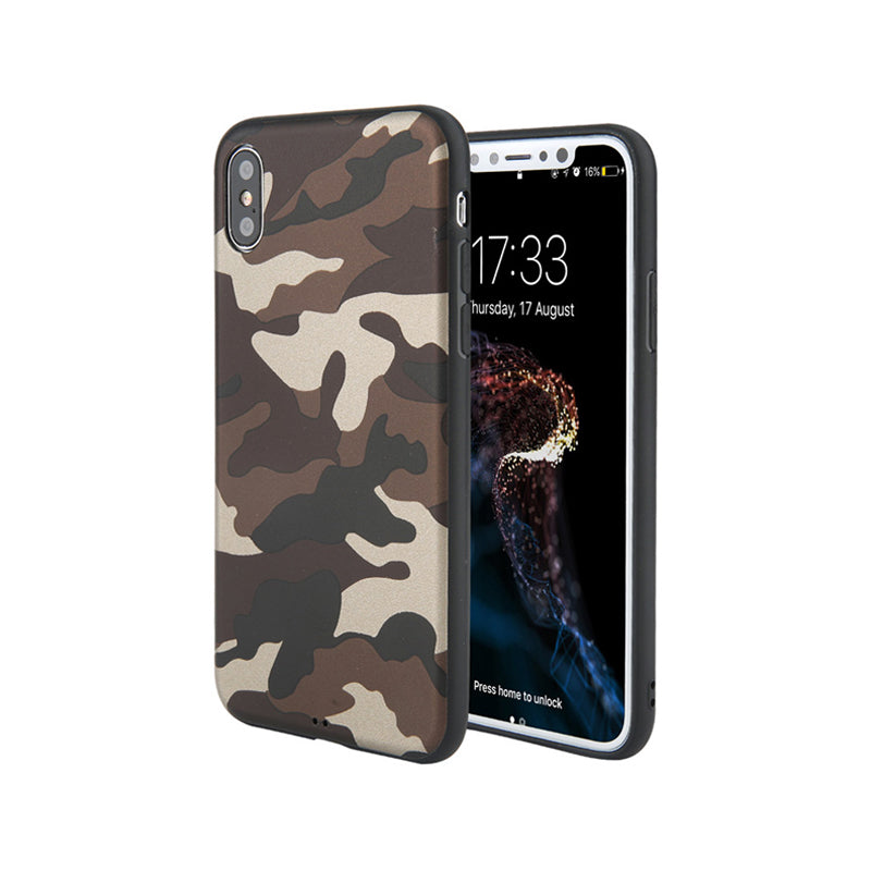 Army Green Camouflage Case For iPhone X/ 6 6S/ 6 6S Plus/ 7 8/ 7 8 Plus