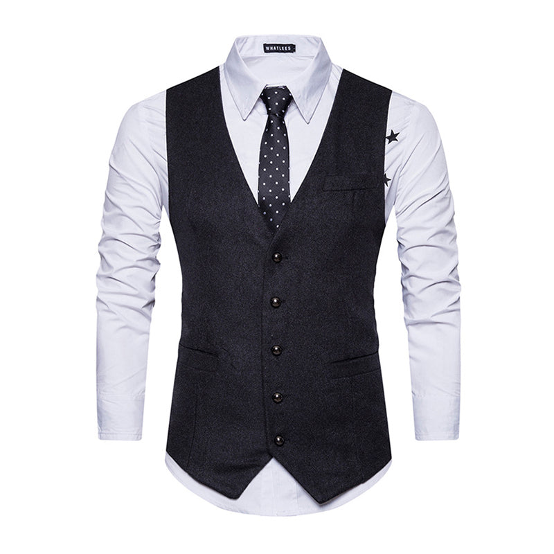 Formal Blazer Single-breasted Casual Vest Coat