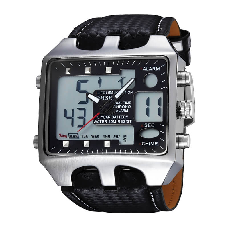 Analog Digital Quartz Casual Sports Watch