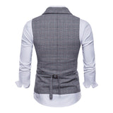 Double Breasted Wedding Suit Waistcoat Striped Casual Vest