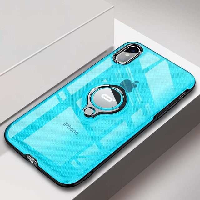Luxury Ring Stand Case For iPhone X XS Max XR Cases Magentic Kickstand Back Cover