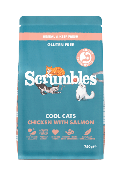 Scrumbles Salmon High Protein Cat Food