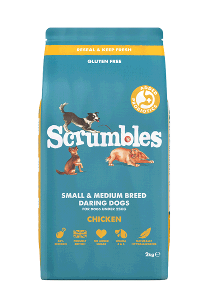 Scrumbles Adult Dry Dog Food Chicken Small to Medium Breeds
