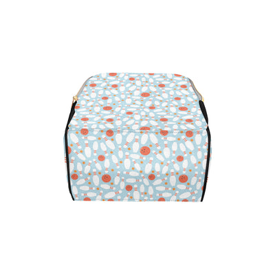 Bowling Pattern Print Design 09 Diaper Bag Backpack