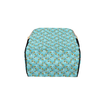 Butterfly Pattern Print Design 010 Diaper Bag Backpack