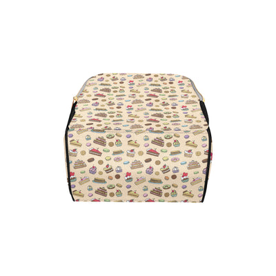 Cake Pattern Print Design 03 Diaper Bag Backpack