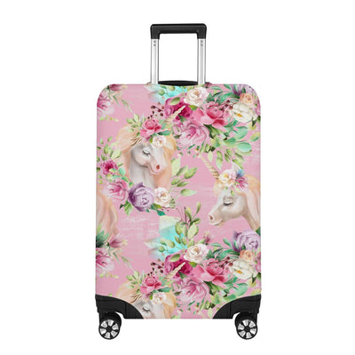 Unicorn Princess With Rose Luggage Cover
