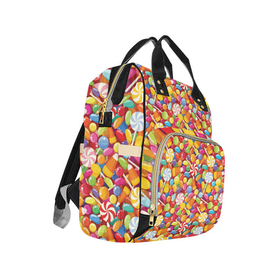Candy Pattern Print Design 02 Diaper Bag Backpack