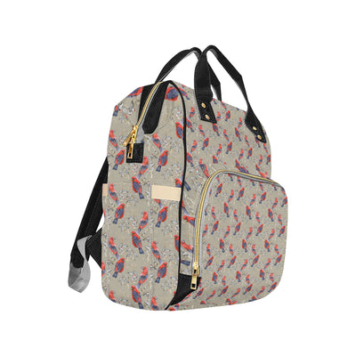 Birds Pattern Print Design 05 Diaper Bag Backpack