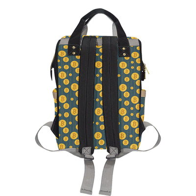 Bitcoin Pattern Print Design 01 Diaper Bag Backpack