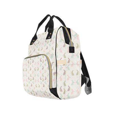 Bunny Pattern Print Design 05 Diaper Bag Backpack
