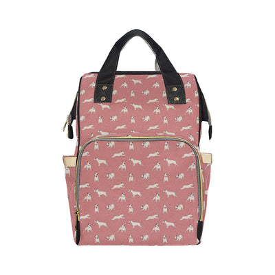 Bull Terriers Pattern Print Design 09 Diaper Bag Backpack