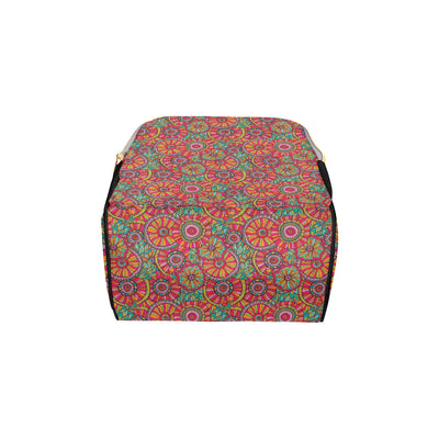 Boho Pattern Print Design 01 Diaper Bag Backpack