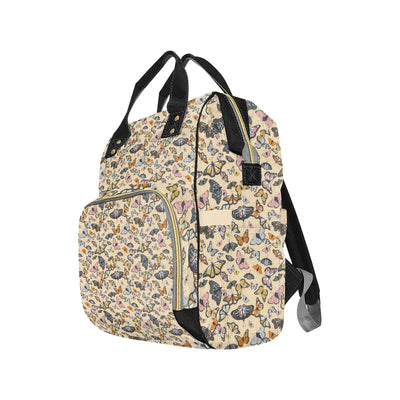Butterfly Pattern Print Design 04 Diaper Bag Backpack