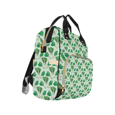 Bok Choy Pattern Print Design 01 Diaper Bag Backpack