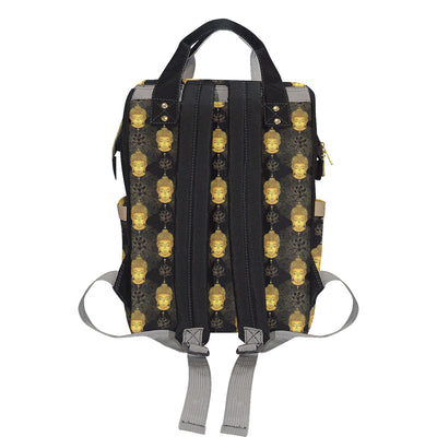 Buddha Pattern Print Design 04 Diaper Bag Backpack