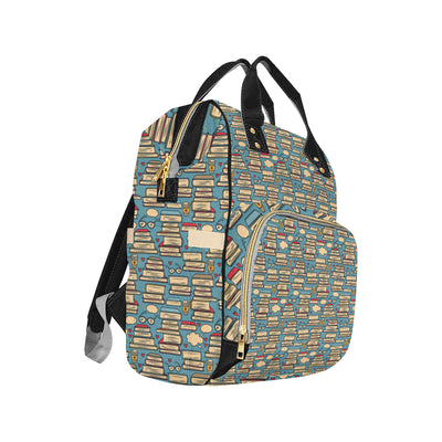 Book Pattern Print Design 03 Diaper Bag Backpack