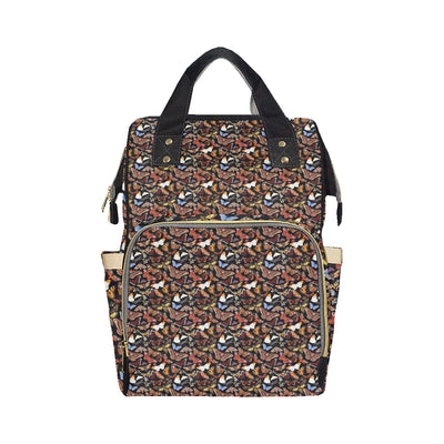Butterfly Pattern Print Design 08 Diaper Bag Backpack